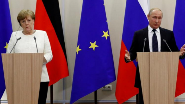 Russia's Putin discussed the Ukrainian issue with Federal Chancellor of  Germany Angela Merkel on the  phone