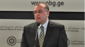 NBG President  links the lari's fall  to the situation in the region