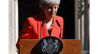 U.K. leader Theresa May announces she will resign on June 7 amid Brexit backlash