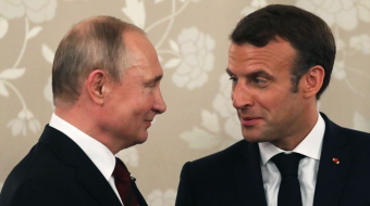 French  Macron hosts Russian leader Vladimir Putin