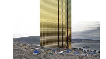 Trump vows not to build giant tower in Greenland