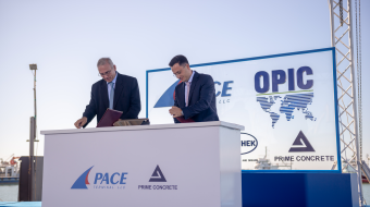 Georgian construction company Prime Concrete starts building a new Pace Terminal Project in Poti co-financed by the U.S. Overseas Private Investment Corporation (OPIC)
