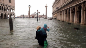 Two people die as Venice floods at highest level in 50 years