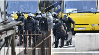 Riot police mobilized near Georgia's Parliament