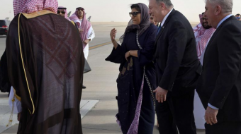Pompeo lands in Saudi for talks focused on Iran