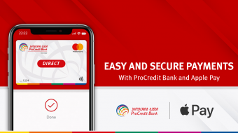 Simple, secure and flexible Apple Pay Digital Wallet for ProCredit Bank customers