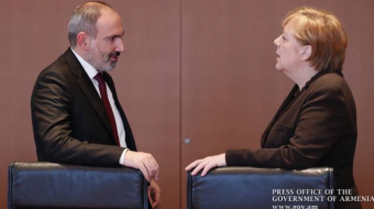 Pashinyan and Merkel discussed the situation in Nagorno-Karabakh