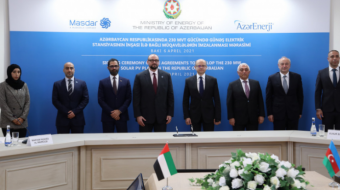Masdar signs deal to develop $200m solar project in Azerbaijan