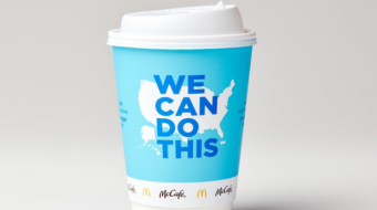 McDonald's is changing its coffee cups to promote the Covid-19 vaccine