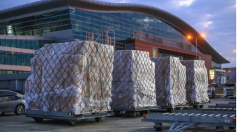 Air freight reduced by 45% compared to pre-pandemic September