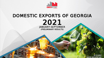 Georgia's exports up 24% in January-September 2021